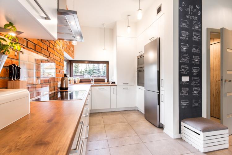 red brick kitchen renovation